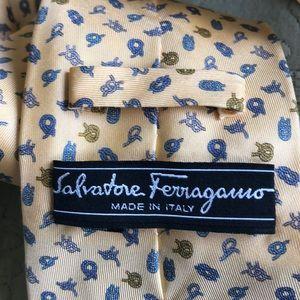 Ferragamo yellow tie